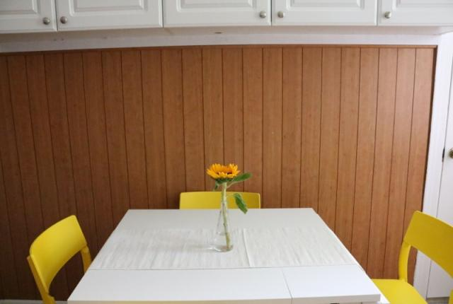 Dining Table in Kitchen for 4  expands